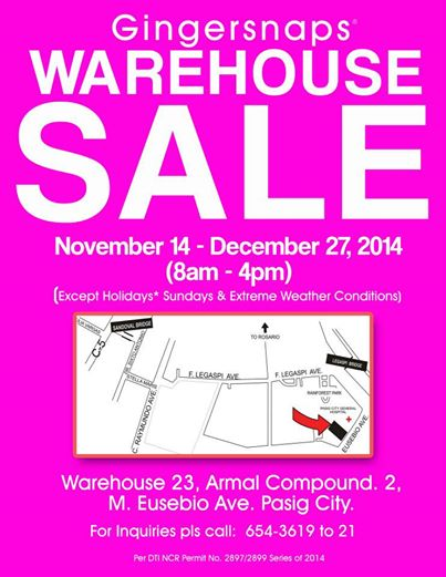 warehouse sale gingersnaps
