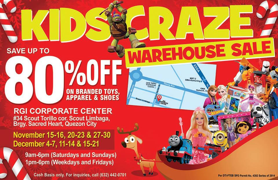 warehouse sale kids craze