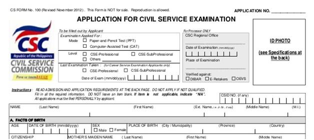 Public Service Application For Career Service Examination Begins